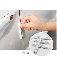 4 шт./компл. двери автомобиля гвардии Угловые кромки бампера буфера отделка под давлением защитный чехол с защитой от царапин защитная пленка для двери автомобиля защитный брус