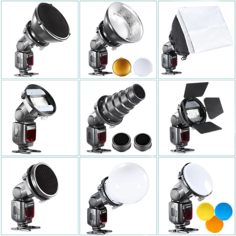 SGA-K9 Flash Diffuser Adapter Kit Accessories Barndoor/Snoot/Softbox/Honeycomb Universal Mount CA-SGU Speedlite for Canon Nikon все цены