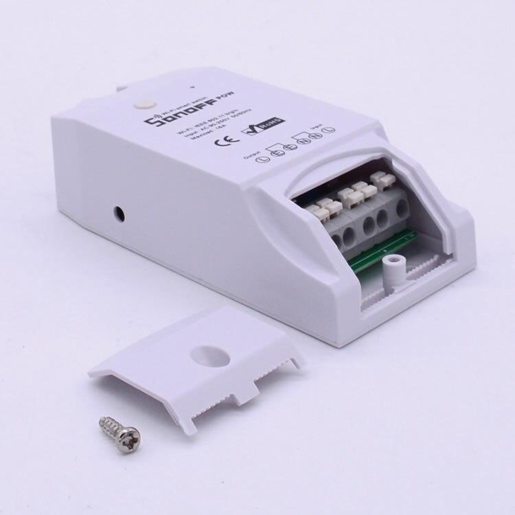 imágenes para Itead Sonoff Pow Wireless 16A interruptor de Alimentación WiFi control Remoto IOS Android eWeLink Medición del Consumo Para El Aparato Electrodoméstico