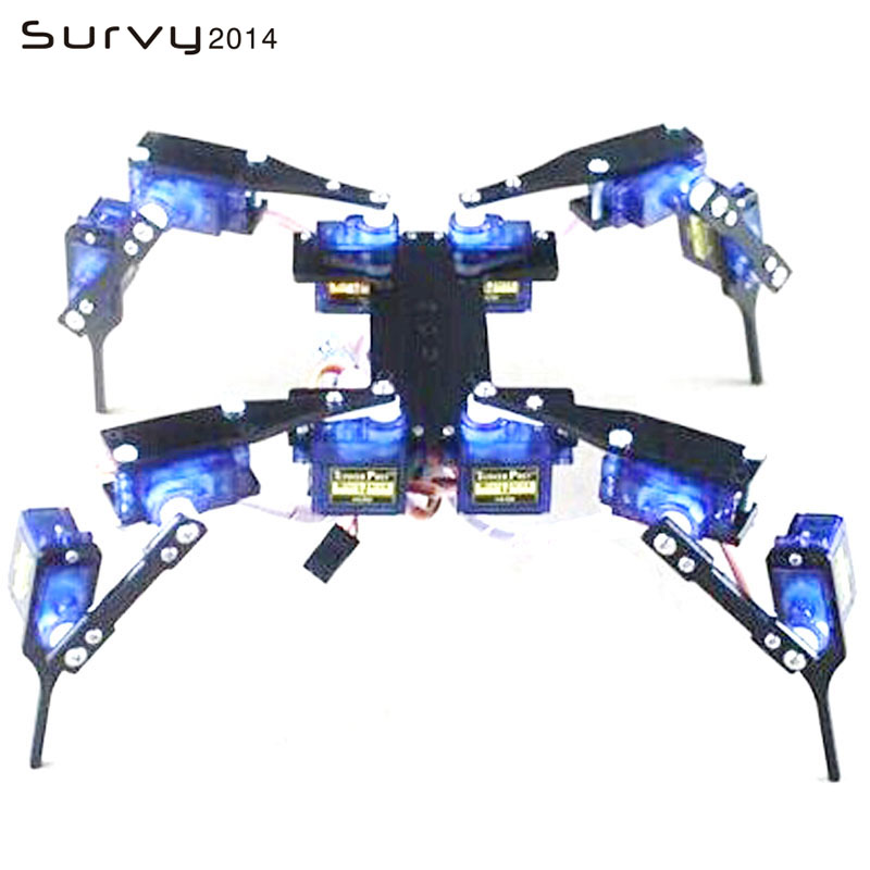 1 ensemble bricolage Spider Robot 12 DOF 4 pieds/jambe Hexapod 4 RC Mini cadre robotique1 ensemble bricolage Spider Robot 12 DOF 4 pieds/jambe Hexapod 4 RC Mini cadre robotique