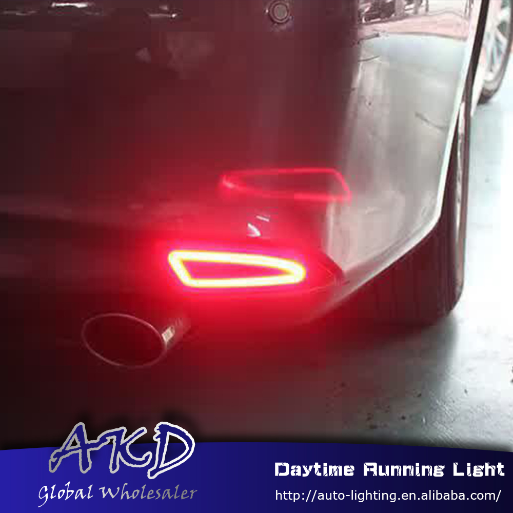Car Styling for Toyota Camry v55 2015-2017 rear reflector for new camry rear bumper light DRL brake lamp +Rear Bumpe Reflector 2014 2015 year camry v55 led bumper light for toyota v1