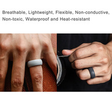 Hot 1Pc Silicone Movement Couples Sport Ring Round Solid Environmental Cool Popular Comfortable Rings