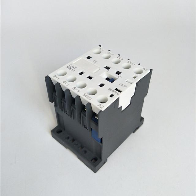 CJX2-K0610 220 Volts Coil 35mm DIN Rail 6A Three Pole 3P 1NO AC Contactor