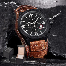 Pagani Design luxury brand Military Watches Men's Leather Quartz Waterproof Multifunction Sport Wrist watches relogio masculino