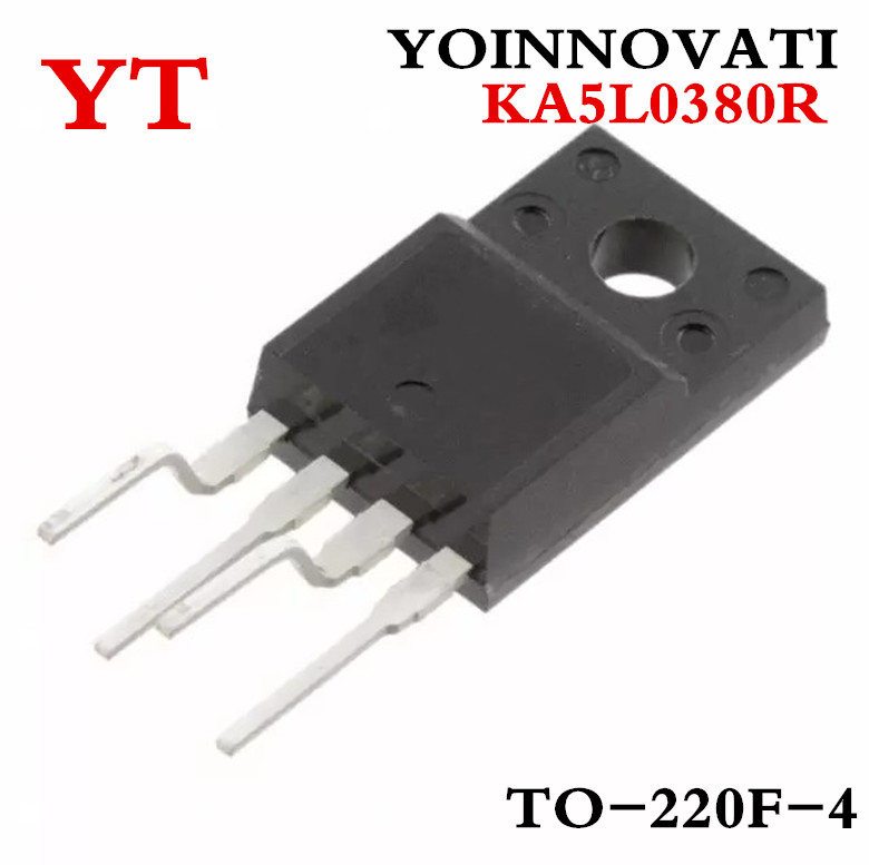 Free shipping 5PCS/LOT IC 5L0380R KA5L0380R IC FPS PWR SWITCH SMPS TO-220F-4 5L0380