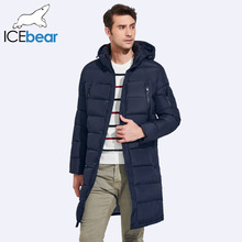 ICEbear 2016 Winter Men's Long Coat Exquisite Arm Pocket Men Solid Parka Warm Cuffs Design Breathable Fabric Jacket 17M298D(China)
