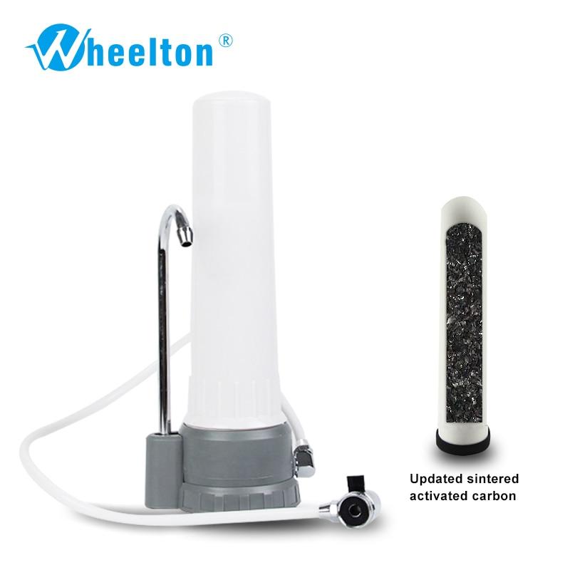 Wheelton KDF Calcium sulfite Household Kitchen water filter desktop water purifier alkaline water Free shipping wholesale lcd alkaline water ionizer