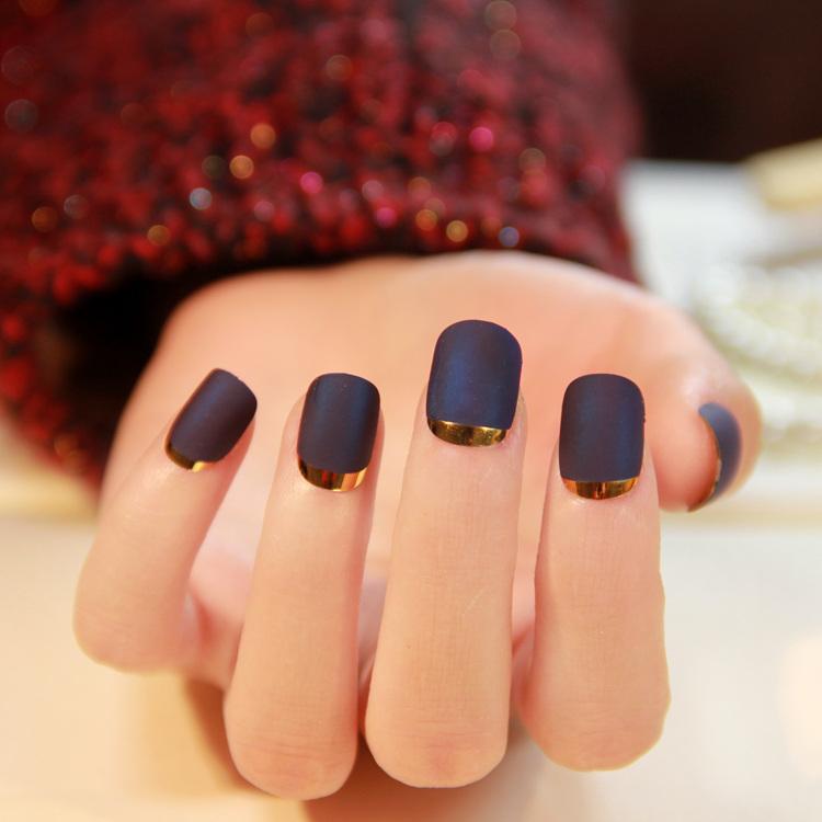 elegante color puro mate francs uas postizas uas de acrlico lindo falsos japons seora short tamao