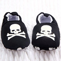 0 - 12 M da criança do bebê pirata do crânio impresso sapatos casuais fundo macio menina meninos sapatos novas vendas QL