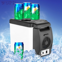 New Arrival 12V 6L Car Mini Fridge Portable Thermoelectric Cooler Warmer Travel Refrigerator augu12(China)