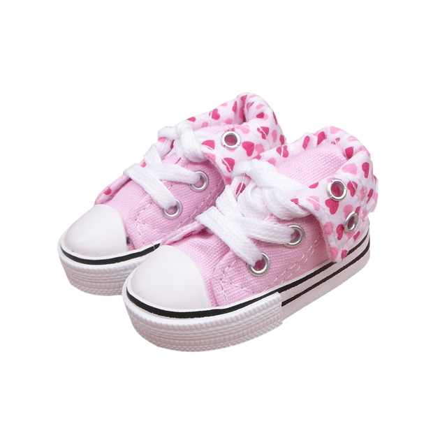 7.5cm 1/3 Mini Doll Sports Shoes,Ball Joints Doll Accessory Canvas Doll Boots,BJD Fashion Canvas Sneakers Shoes For Tilda Toy