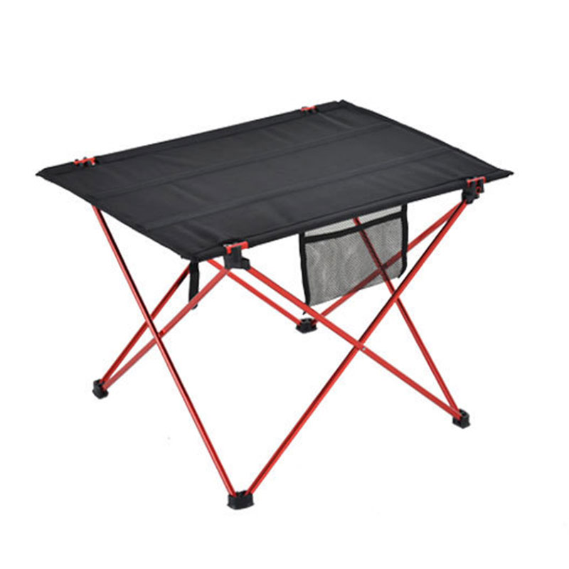 Outdoor Furniture Table Red Folding Camping Table Light Color Weight Ultralight Desk Fishing Tables Modern Foldable Furniture