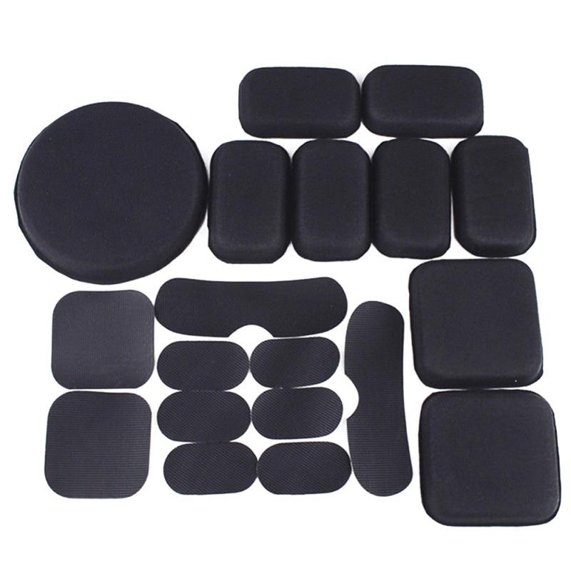 Acouto Helmet Pads Set 19PCS Soft and Durable EVA Foam Helmet Pads Foam Pad Replacement Accessories