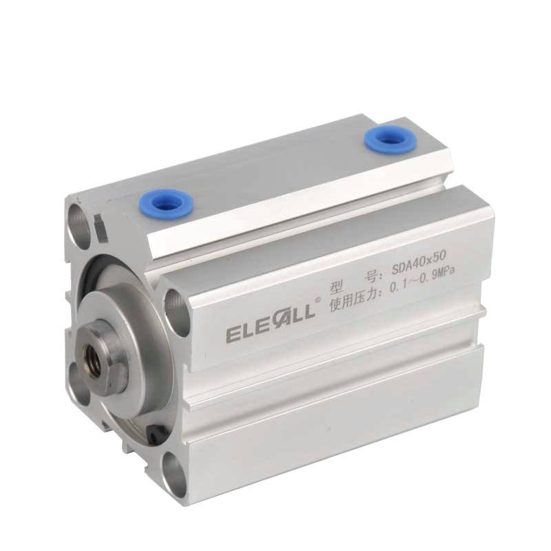 SDA40*5 / 40mm Bore 5mm Stroke Compact Air Cylinders Double Acting Pneumatic Air Cylinder cq2kb40 5dz aluminum compact cylinder bore 40mm stroke 5mm