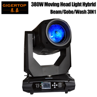 TIPTOP сценический свет 380 Вт движущийся головной свет 3в1 Шарпи луч не водостойкий 18R лампа пятно/стирка/луч Гибридный зум фокус RDM DMX добавить