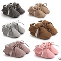 SDMOCCS New Brand Pu suede leather Toddler Baby moccasins winter keep warm with fur Snow lace-up Baby shoes