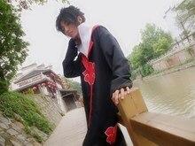 Naruto Cosplay Akatsuki Uchiha Itachi Cloak Hooded Costume
