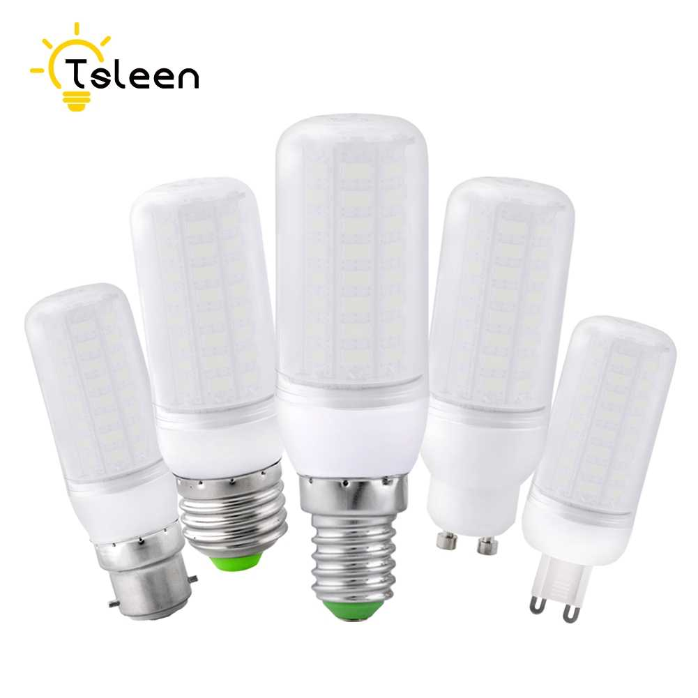 Cheap Super LED Bulb E27 E14 220V SMD 5730 LED Lamp B22 GU10 G9 AC 110V 5730SMD LED Corn Bulb light Chandelier 220 230V