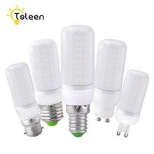 Ucuz süper LED ampul E27 E14 220V SMD 5730 LED lamba B22 GU10 G9 AC 110V 5730SMD LED mısır ampul ışık avize 220 230V