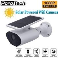 L4 hd 1080 p 태양 강화한 옥외 안전 사진기 저전력 재충전 전지 무선 wifi ip 사진기 pir 먼 탐지