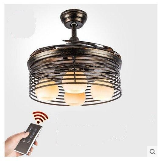 107cm american light fan chandeliers with remote control - Bedroom ceiling fans with remote control ...