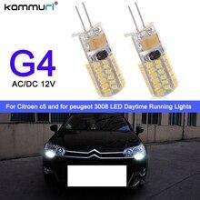 Kammuri 2 шт. drl свет G4 Hp24w 34SMD 3014 12 В g4 светодио дный лампы Габаритные огни для Citroen c5 и для peugeot 3008 DRL