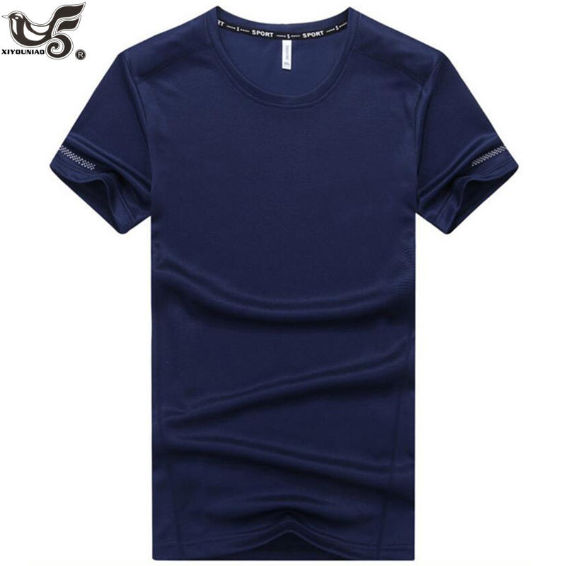 XIYOUNIAO plus size L~7XL 8XL 9XL new summer men quick dry casual   t     shirt   short sleeve sporting soild color men tshirt tops&tees