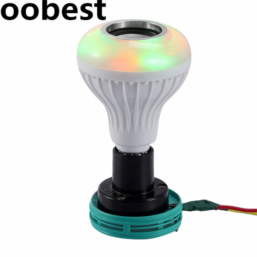 Smart E27 RGB Bluetooth Speaker LED Bulb Light 12W Dimmable Wireless Music Playing Leds Lamp with 24 Keys Remote Control smart bulb e27 led rgb light wireless music led lamp bluetooth color changing bulb app control android ios smartphone