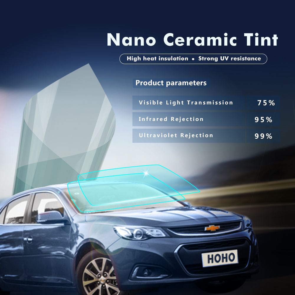 1x6m 75%VLT Car Sun Shade Heat Control Solar Window Films Sun Protection Car Ceramic Series Clear Window Glass Tint Vinyl the window office paper sticker pervious to light do not transparent bathroom window shading white frosted glass tint