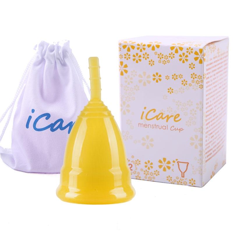 1 Pc גביע וסת נקבה תקופה השתמש רך כוס 100% רפואי כיתה הסיליקון גביע וסת עבור טיפול נרות היגיינה נשית AW01