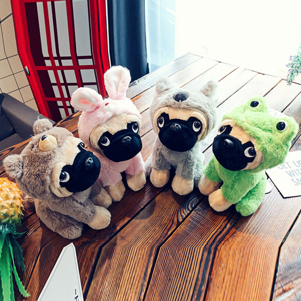 New 20cm Cute Hat Decorated Shar Pei Doll Plush Toy Doll Stuffed Animal Plush Baby Toy Cute Plush Dog Doll For Girls and Boys yoda plush 1pc 922cm star wars figure plush toy aliens yoda soft stuffed plush doll toy kawaii toy for baby