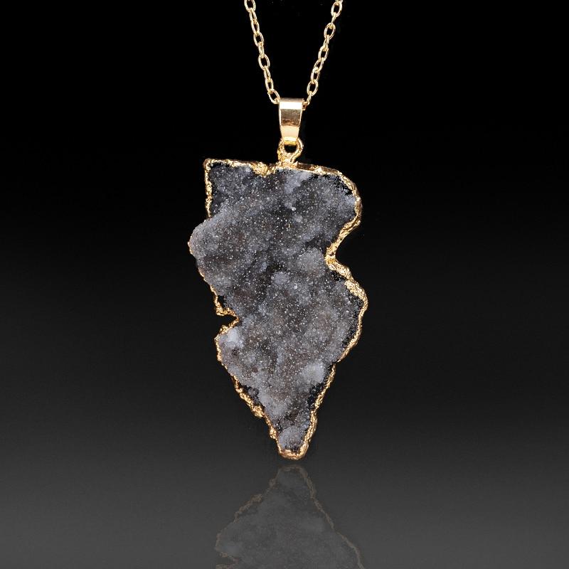 Yeni isti satış Düzensiz təbii daş kvars kristal boyunbağı - Moda zərgərlik - Fotoqrafiya 6