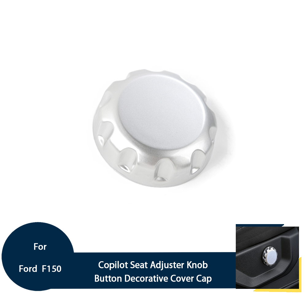 Car Copilot Seat Adjuster Knob Button Decorative Cover Trim Cap For Ford <font><b>F150</b></font> 2015+ ABS 1PCS Silver/Red Car Inner <font><b>Accessories</b></font> image