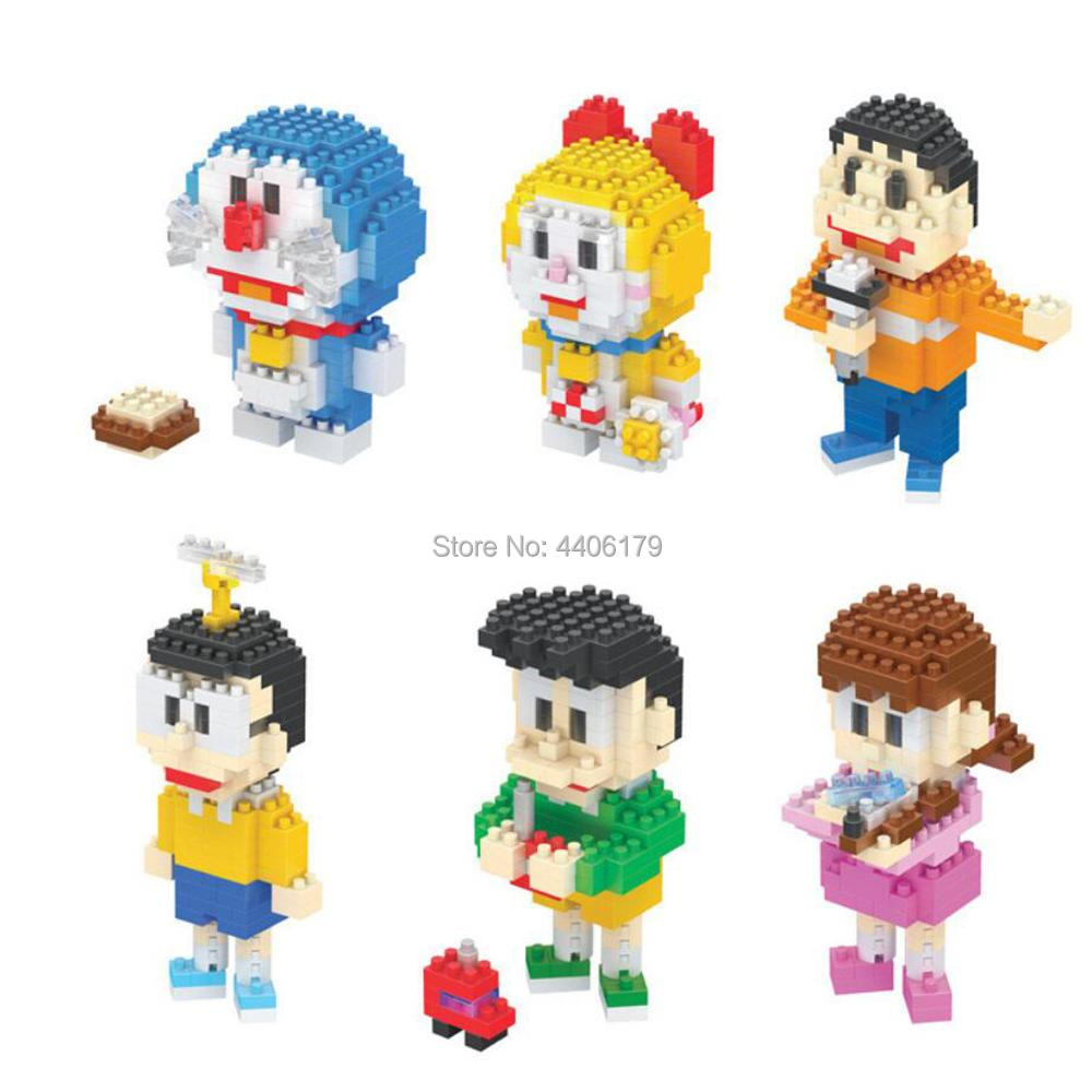 hot LegoINGlys creators Japan classic cartoon Doraemon Dorami Nobi Nobita figures micro diamond building blocks model brick toys