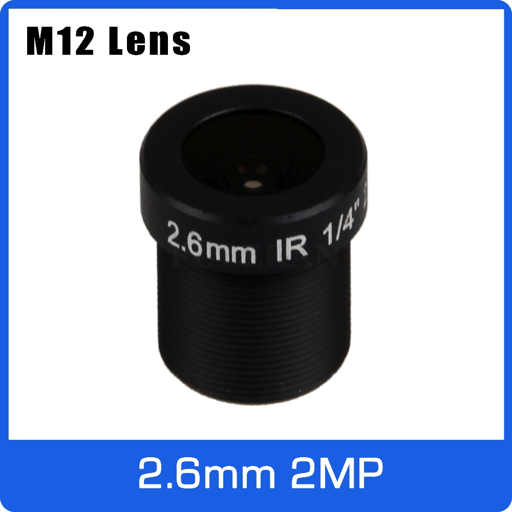 2Megapixel M12 Fixed 1/4 Inch 2.6mm 120 Wide Angle CCTV Lens For OV9712/OV9732/H42 HD 720P CCTV Camera Free Shipping