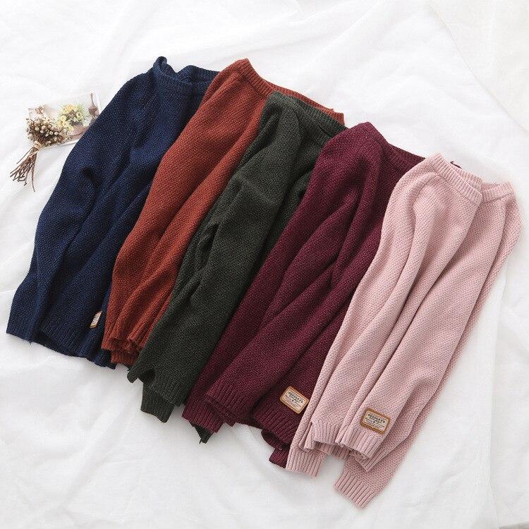 Bella Philosophy Feminina Autumn Winter Harajuku Women Sweater women Pullovers CasualSplit Korean Knitwear plus size jumper 2