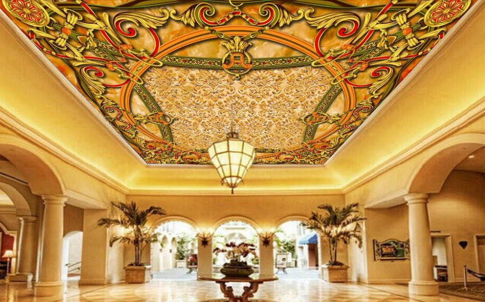 Top vinyl ceiling murals wallpapers for Ceiling mural wallpaper