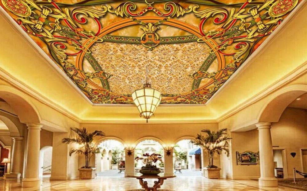 Top vinyl ceiling murals wallpapers for Ceiling mural wallpaper