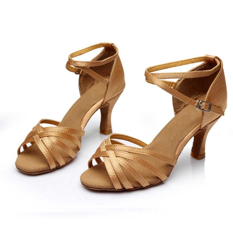 WUUQAO Marke Neue frauen Tanz Schuhe Mit Hohen Absätzen Tango Ballroom Latin Salsa Tanzen Schuhe Für Frauen Heiße Verkäufe