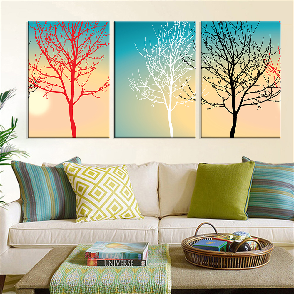 Online buy wholesale landscape art work from china landscape art work wholesalers for Landscape paintings for living room