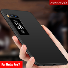 MAKAVO Cover For Meizu Pro 7 Case 360 Full Protection Soft S