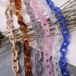 1 шт. 60 см 120 см акрил сексуальные цепи для Модные женские вечерние сумки кошелек bolsa ремешок, красоты каучуковая сумка ремни Замена