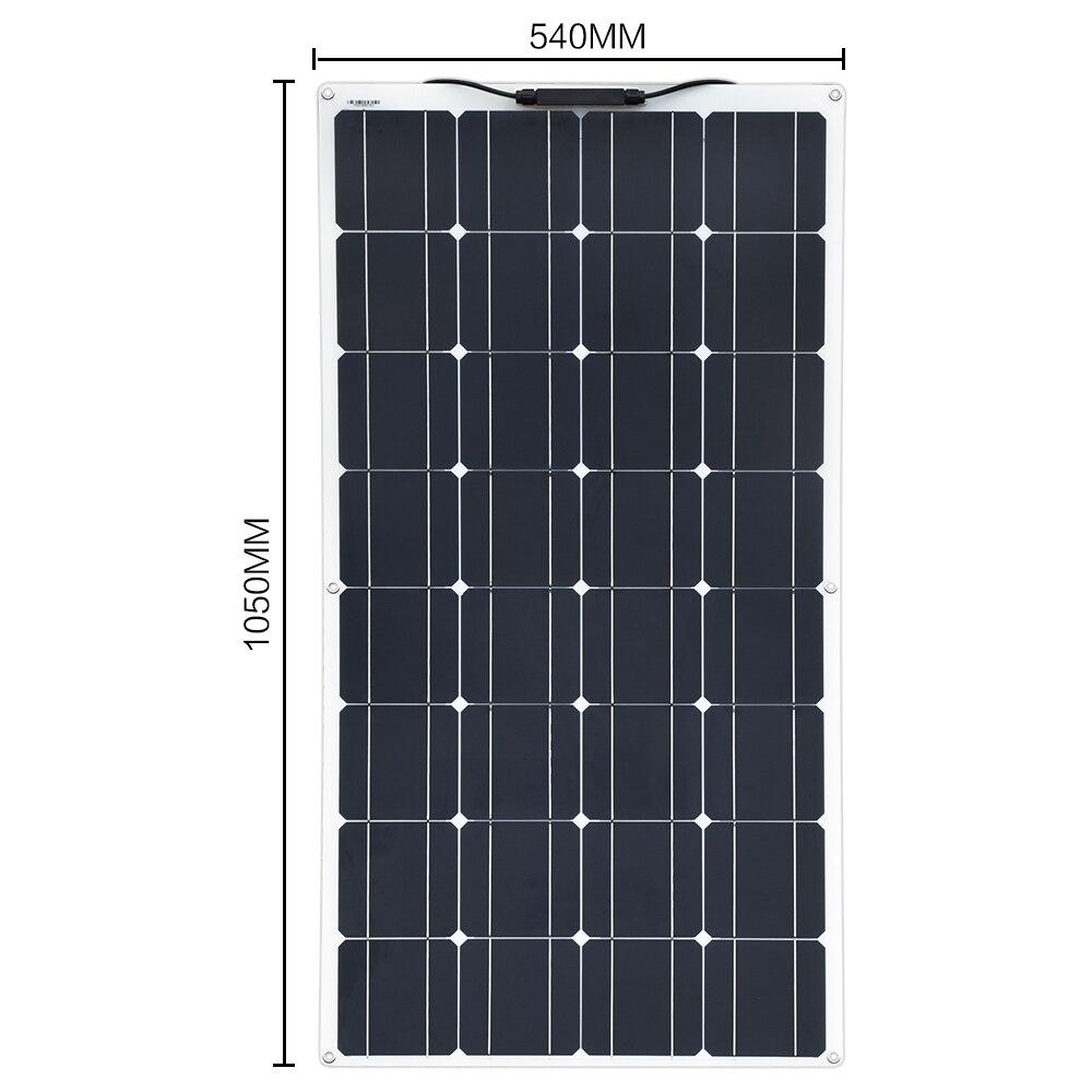 Boguang Brand Solar panel 2 piezas 100w 200W Flexible Panel Solar módulo sistema RV coche barco marino uso doméstico 12V /Kit de bricolaje de 24V paneles solares panel de aislamiento - 2