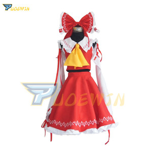 Image 2 - Costume Cosplay Hakurei Reimu Hakurei Lolita, projet Anime Touhou, robe de Costume dhalloween livraison gratuite