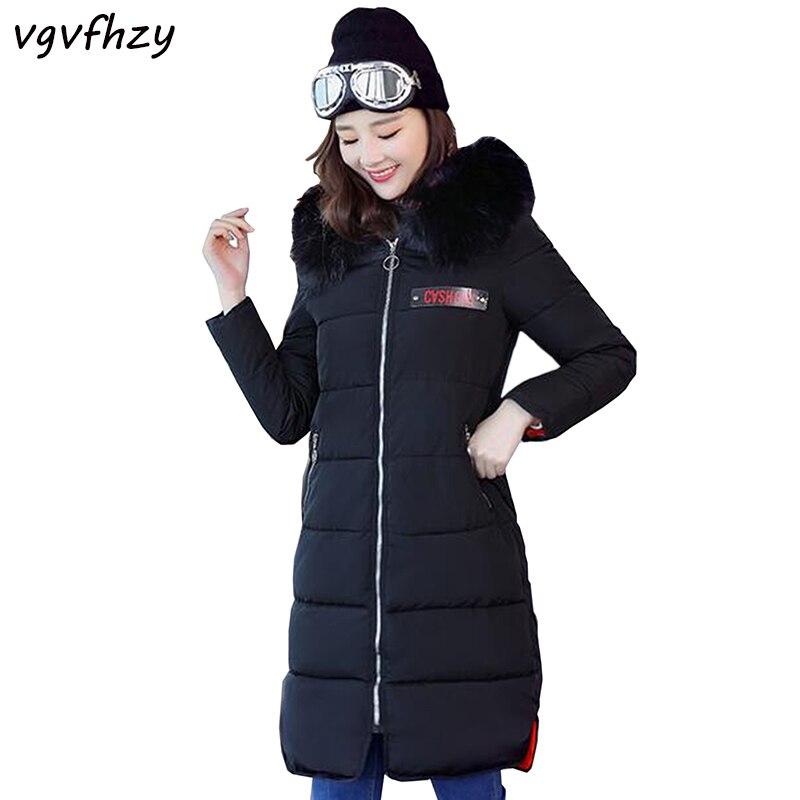 Large Fur Collar Winter Women Parka New 2017 Winter Coat Jacket Women Outerwear Long Slim Thickening Warm Female Wadded Jacket цены онлайн