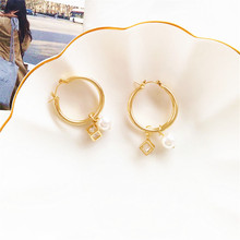 2019 New Fashion Charm Big Simulated Pearl Long Earrings for Women Statement  Wedding Party Office Lady Gift