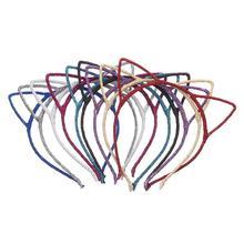 DPSaiLYY 10 PC Hot Sale Korean Cute Solid Cat Ears Headbands Hairbands for Women Cat