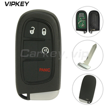 Remotekey  GQ4-54T Smart keyless Key for Dodge Chrysler Jeep Cherokee 2014 2015 2016 2017 4 Button 434MHz car remote key remotekey n5f id2a 4 button 434mhz smart key for bmw x5 x6 2014 2015 2016 2017