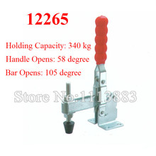 2PCS Vertical Toggle Clamp 12265 U Bar Flanged Base Straight Handle Holding Capacity 340KG 750LBS цена