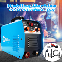 Portable MMA 300G Mini Welding DC Welding Machine 220V 25A 300A Semi Automatic Inverter LCD Soldering Tool Welding Working
